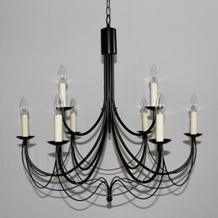 "The ""Casterton"" Collection – 2 tiered 9 (6+3) Arm Candle Chandelier"