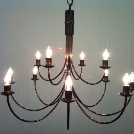 The 'Belton' Collection' -  2 Tiered - 12 Arm Candle Chandelier
