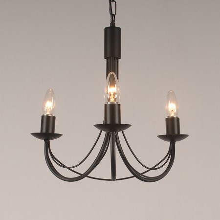 The 'Tinwell' Collection - 3 Arm Candle Chandelier