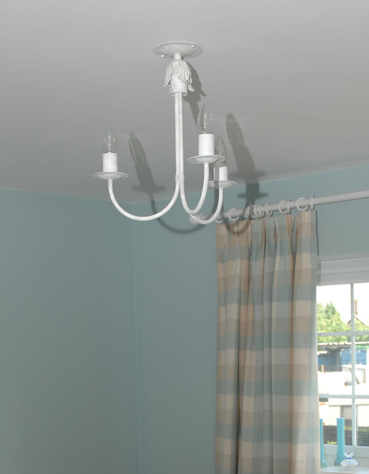 3 arm white bedroom 3 - White Bedroom Ceiling Lights