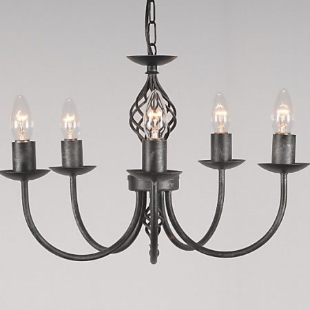 The 'Bainton ' Collection - 5 Arm Candle Chandelier