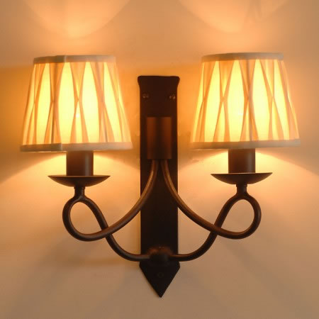The 'Langham' Collection - Twin Candle Wall Light