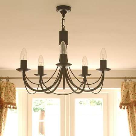 The 'Tinwell' Collection - 5 Arm Candle Chandelier