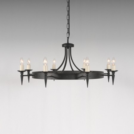 The 'Clipsham' Collection – 8 Arm Wheel Chandelier