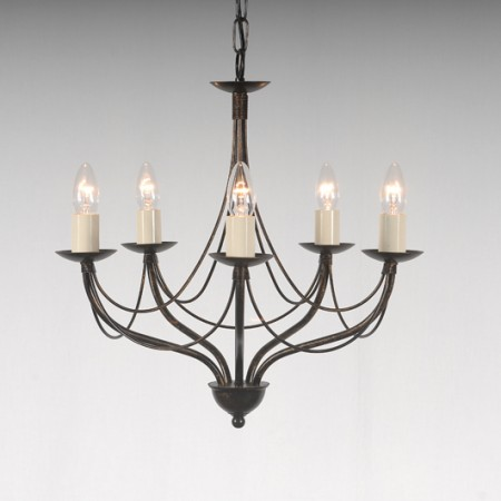 The 'Yarwell' Collection - 5 Arm Candle Chandelier