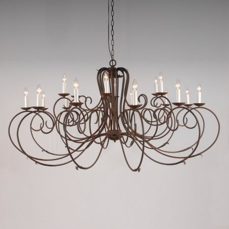 "The ""Clifton Collection "" - 18 Arm Candle Chandelier"