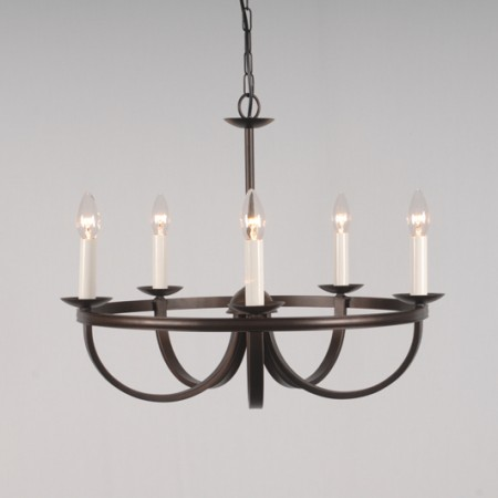 The 'Nassington' Collection - 5 Arm Candle Chandelier