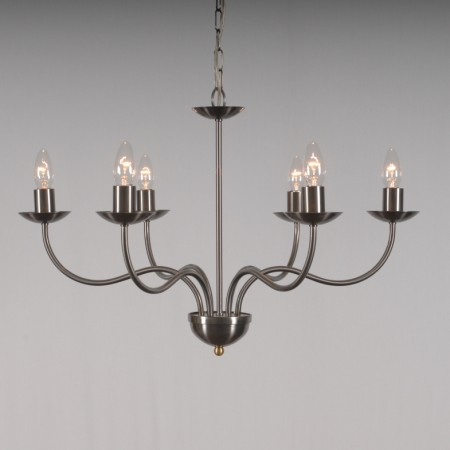 The 'Haconby' Collection - 6 Arm Candle Chandelier
