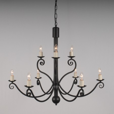 """Toft"" Collection - 2 Tierd (6+3) 9 arms Chandelier"