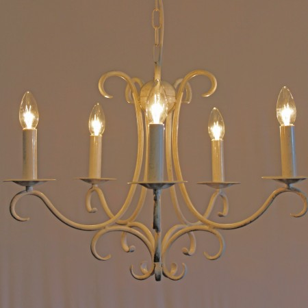 The 'Elton' Collection –  5 Arm Candle Chandelier