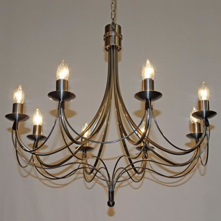 "The ""Casterton"" collection - 8 Arm Candle Chandelier"
