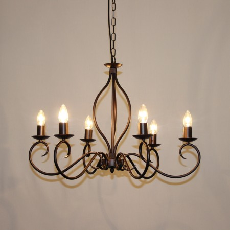 "The "" Etton"" Collection - 6 Arm Candle Chandelier"