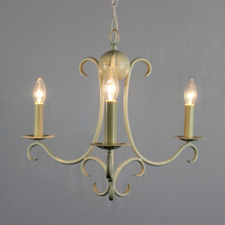 "The ""Elton Collection"" - 3 Arm Wrought iron Candle Chandelier"