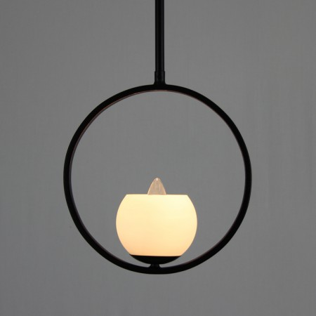 "The  ""Little Bytham"" Collection - Single Wrought Iron Pendant Light"