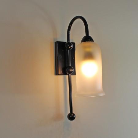 "The ""Lenton"" Single Wrought Iron Wall Light"