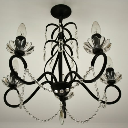 The 'Buckminster' Collection –  5 Arm  Crystal Chandelier