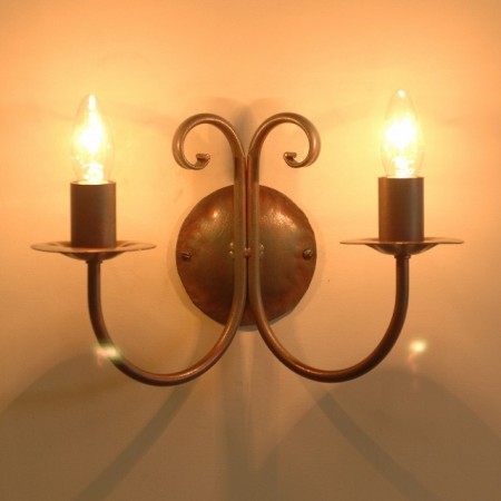 Double wall lights bespoke lighting co the newstead twin candle wall light mozeypictures Images