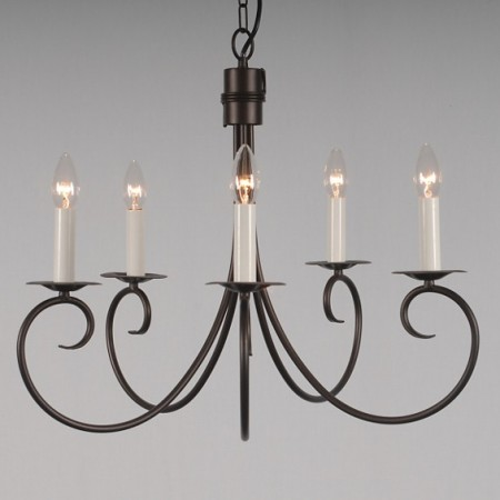 The 'Ufford' 5 Arm Candle Chandelier