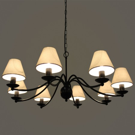 """Baston"" Collection - 8 Arm Ceiling light"