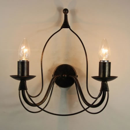 "The ""Birdcage"" Twin Candle Wall light"