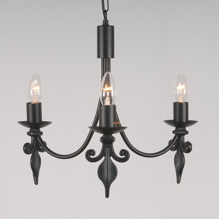 The 'Fleur de Lys' Collection - 3 Arm Candle Ceiling Light