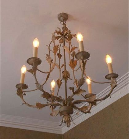 The 'Hamilton' Collection - 6 Arm Candle Chandelier