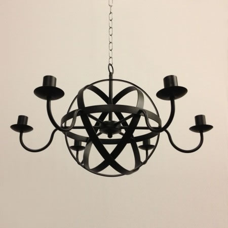 "The ""Greatford"" Collection – 6 Arm Candle Chandelier"