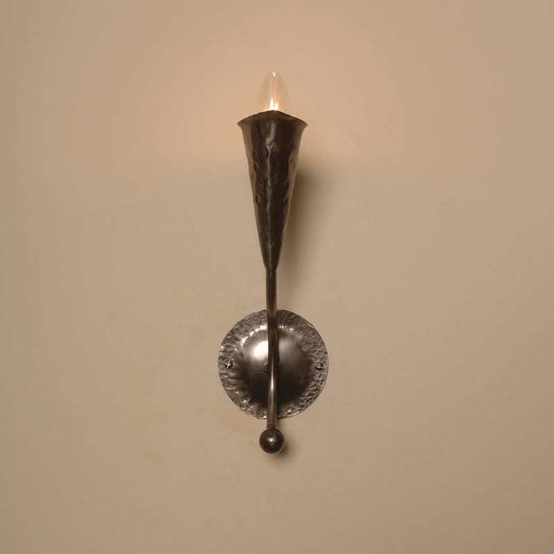 The Tallington - Single Candle Wrought Iron Wall Light - Bespoke Lighting Co
