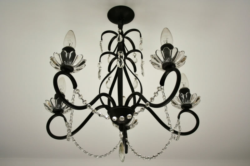 Elegant wrought iron chandelier