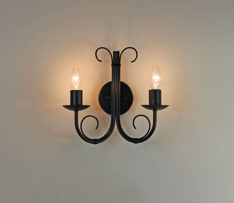 The Quot Hambleton Quot Twin Wrought Iron Wall Light Bespoke